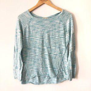 ✨ Blue and White Mix Sweater   White + Warren